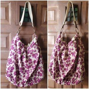 American Eagle Floral XL Hobo Bag Tote Purse